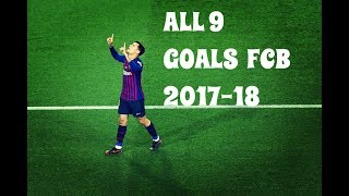 Phillipe Coutinho 9 Goals For Barcelona 2017-18 HD