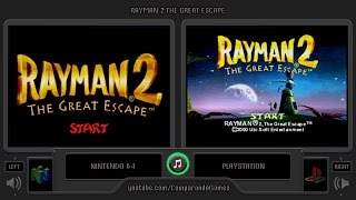 Rayman 2 (Nintendo 64 vs Playstation) Side by Side Comparison
