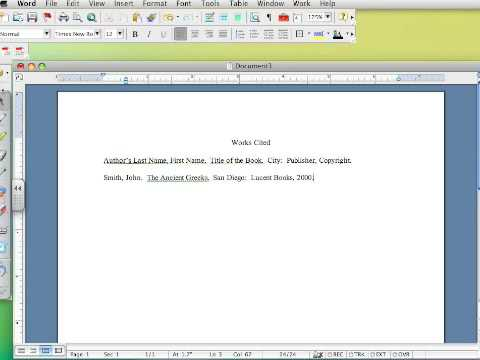 How to create a Works Cited page in MLA 6 - Part I - YouTube
