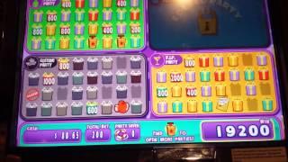 Jackpot party slot machine bonus.BIG WIN.