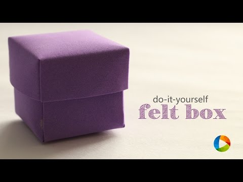 How to: Felt Box - Easy arts and crafts - Art-all-the-way