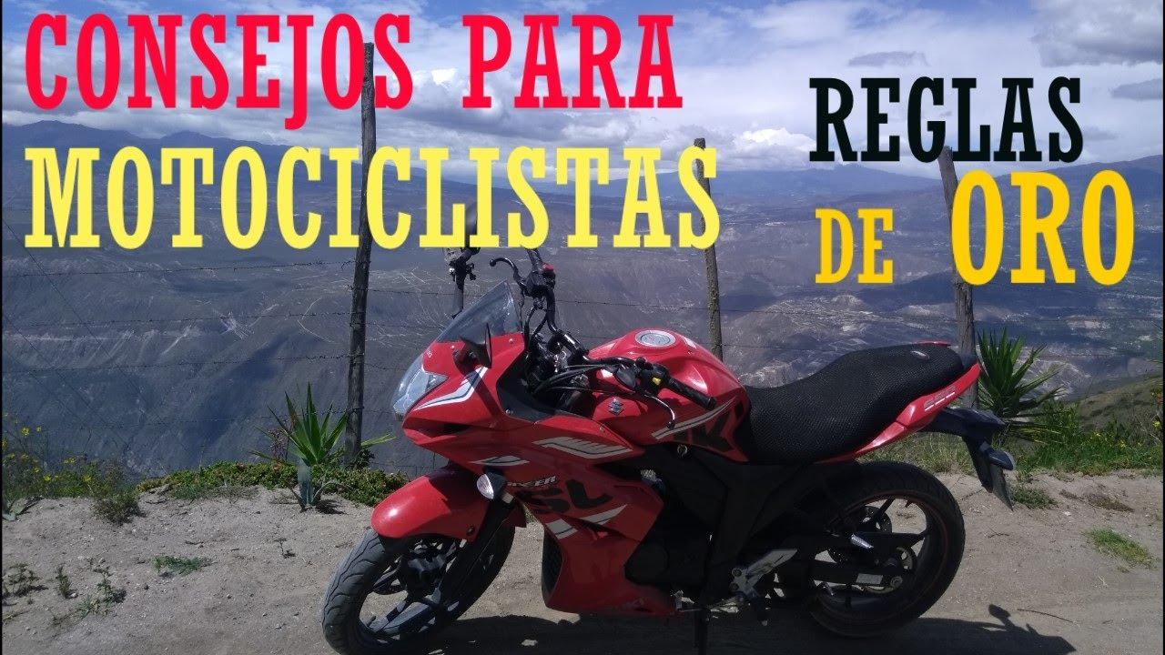 CONSEJOS para MOTOCICLISTAS y principiantes en MOTOS, CONDUCCIÓN, mantenimiento de tu MOTO