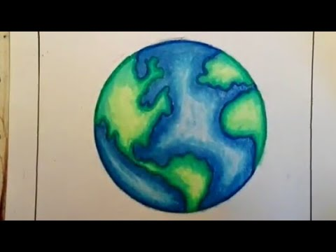 How To Draw Earth Save Earth Drawing For Kids Youtube