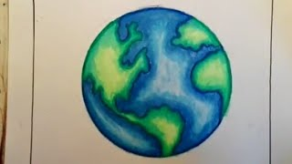 How to draw Earth || Save earth drawing for kids