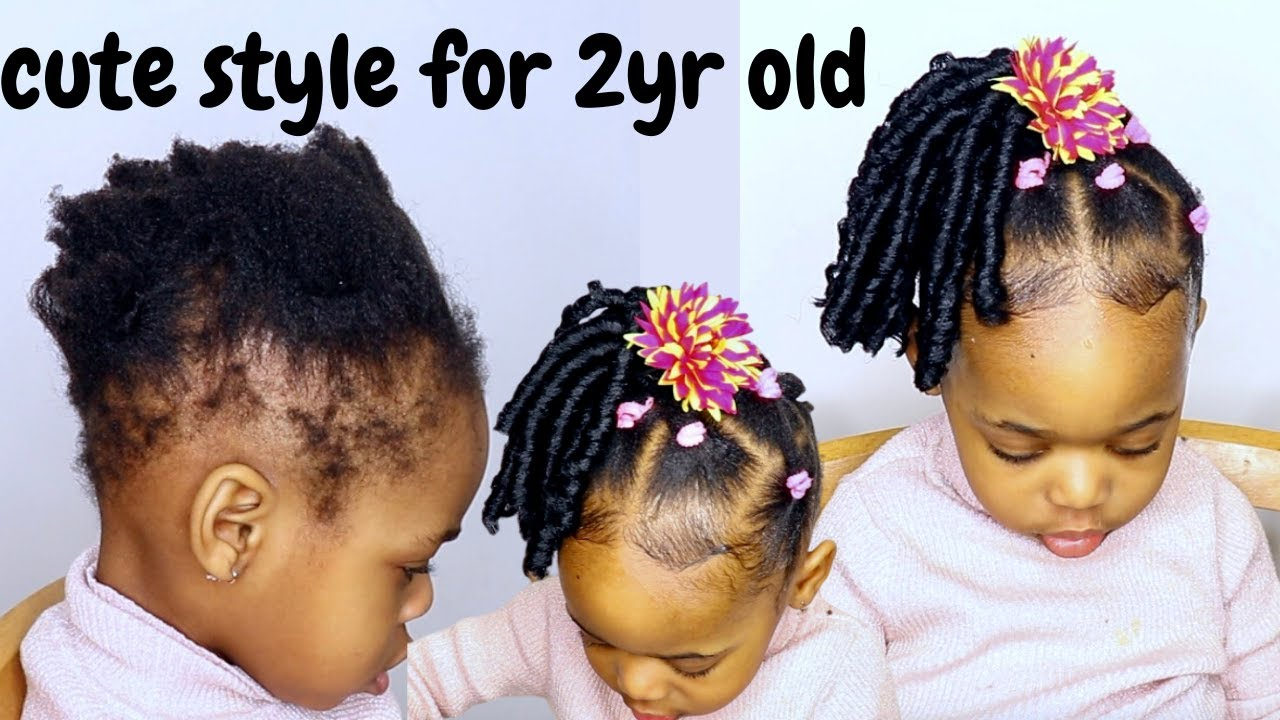 Easy And Quick Hairstyle For 2yr Old Toddler Kids Little Black Girls On Short Hair Youtube