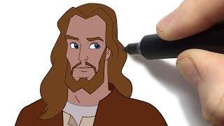 Como Desenhar Jesus Desenhos Bíblicos Histórias Animadas do Novo Testamento