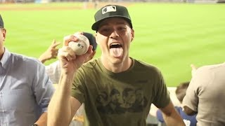 Zack Hample Catching Game Home Runs on TV (Part 2/5)