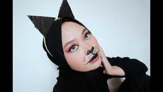 The Black Cat   Tutorial Halloween Makeup Indonesia