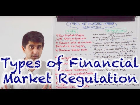 types of financial regulations in the
