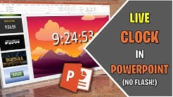 Create A Live Clock In Any PowerPoint Presentation (No Flash!)