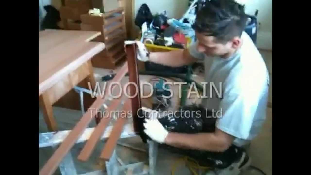 Wood Staining And Spray Matt Finish, Wood Stain London, Furniture Matt  Finish. Furniture Staining   YouTube