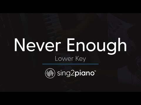 Never Enough (LOWER Piano Karaoke) The Greatest Showman