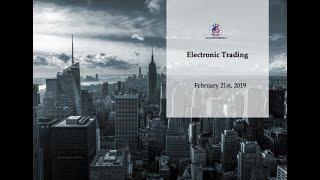 Career Series: Electronic Trading Webinar