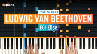 """ALL PARTS FREE – How To Play """"Für Elise"""" by Ludwig van Beethoven 