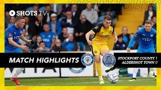 Стокпорт Каунти  1-0  Олдершот Таун видео