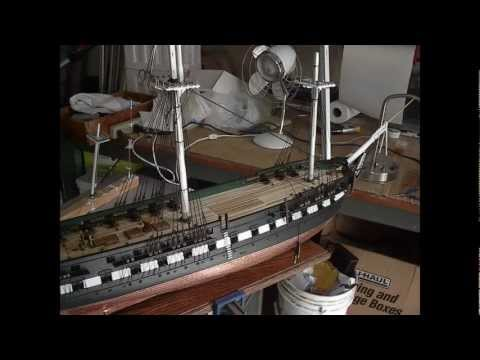 Building Wooden Model Ship Uss Constitution By Bill Youtube