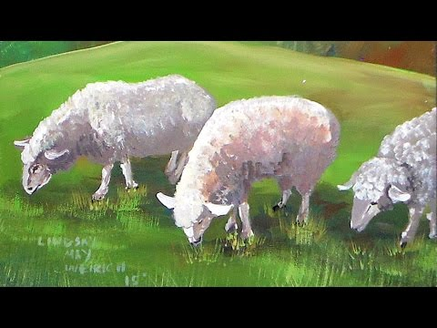 How To Paint Sheep In Acrylics Beginner Real Time Tutorial