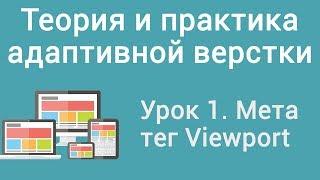 Урок 1. Теория и практика адаптивной верстки. Мета тег Viewport