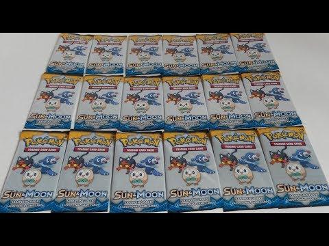 18x POKÉMON TCG: SUN & MOON Sampling Packs