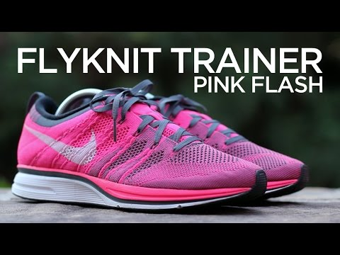d961f0a13ea17 Closer Look  Nike Flyknit Trainer - Pink Flash - YouTube