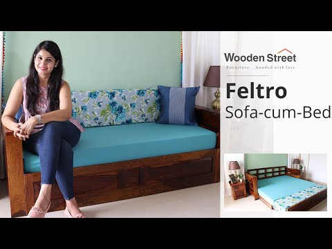 Sofa Come Bed: Buy Feltro Sofa Cum Bed Online Upto 55% OFF | Wooden Sofa Come Bed