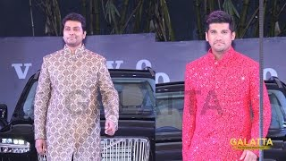 Narain and Vijay Yesudas walks the ramp for Sanjana Jon at CIFW 2015