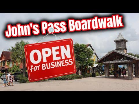 John's Pass Boardwalk is Open for Business