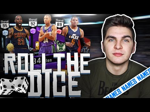 NBA 2K17 ROLL THE DICE OF MOST POPULAR NAMES!