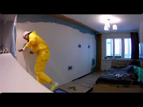 Как перекрасить окрашенные стены. Метод нанесения. Обои под окраску.
