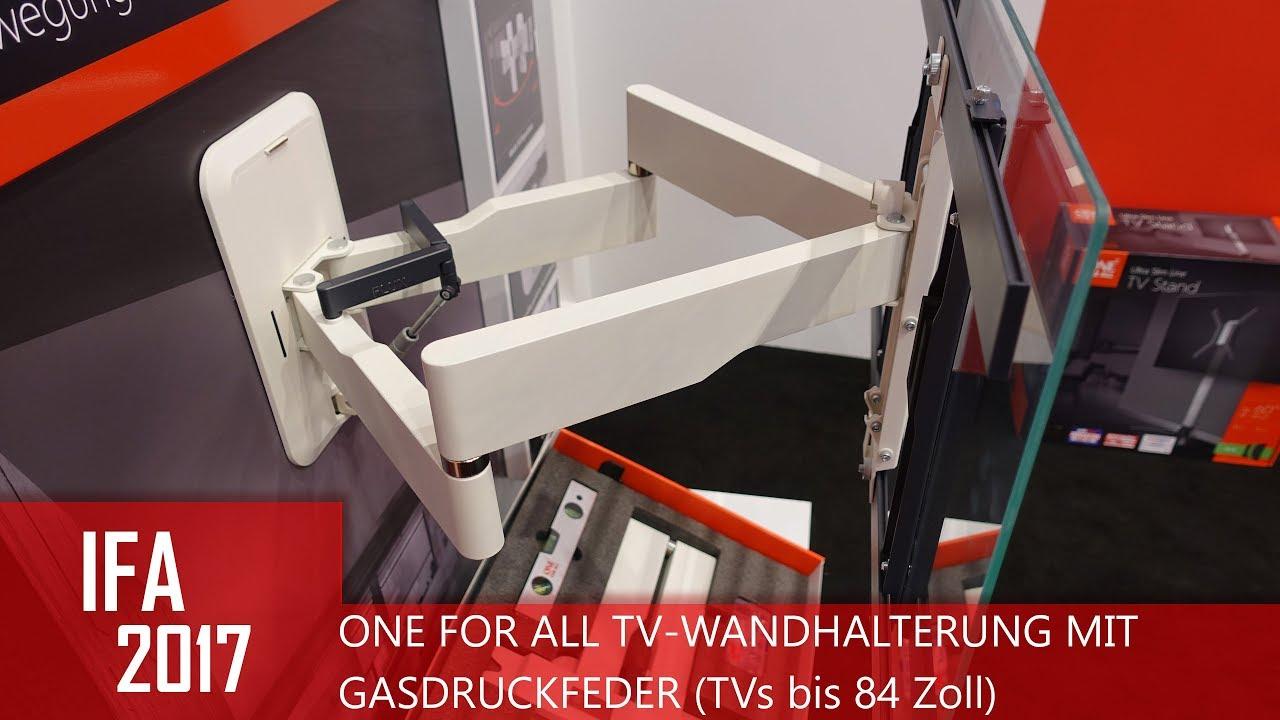ONE FOR ALL TV Wandhalterung Mit Gasdruckfeder (IFA 2017)