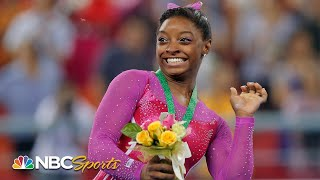 Biles and the bee: Simone Biles at the 2014 World Championships I NBC Sports