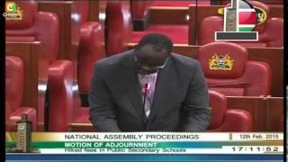 Parliament on School Fees