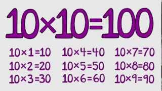 "10 Times Table Song - Fun for Students - from ""Multiplication Jukebox"" CD by Freddy Shoehorn"