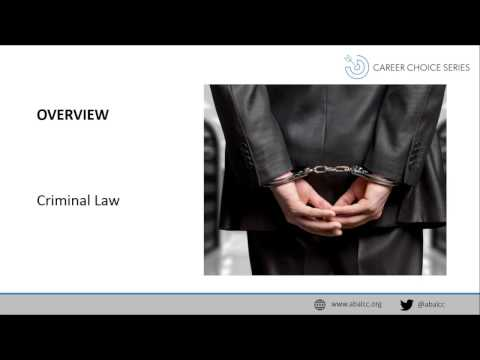 Career Choice Series: Criminal Law