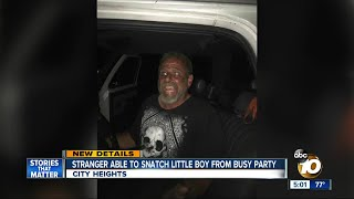 Man suspected of taking boy from busy party