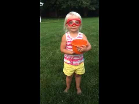 2-Year Old Does Ice Bucket Challenge, Nominates Barbie and Dora the Explorer