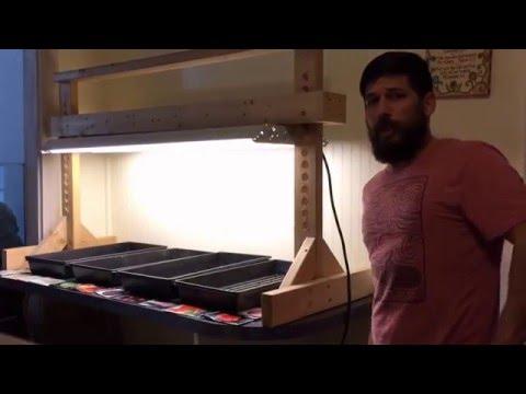 DIY cheap grow light stand out of 2x4 lumber