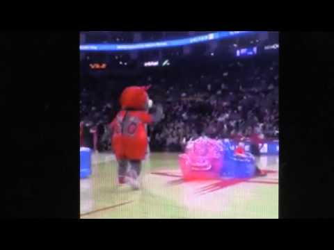 BasketBall Mascot Try To Cheat Kids