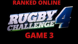 Rugby Challenge 4 3rd Ranked Online Game!!!