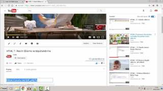 HTML | 23 Youtube'dan video yükleme