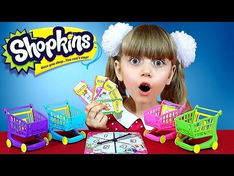 ШОПКИНС НОВИНКА 2017: Гонки На Тележках - настольная игра для детей и их родителей