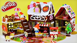 Hello Kitty & Mimmy Sweet Candy House Play Doh Cookies Treats Plastilina la Pasticceria Ciao Gattino