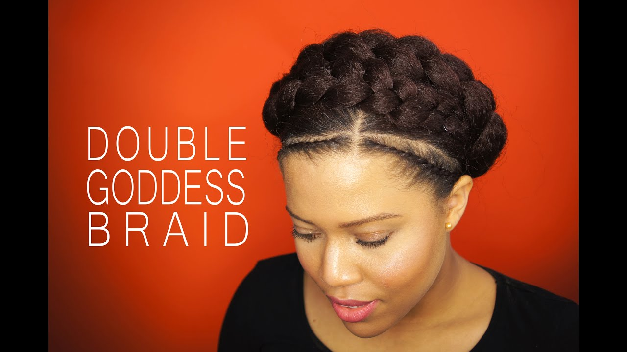 How To Goddes Braid With Extensions On Natural Hair Samantha