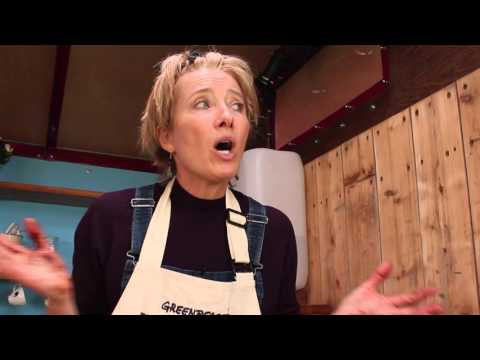 Emma and Sophie Thompson take part in the 'Frack free Bake Off' Battle