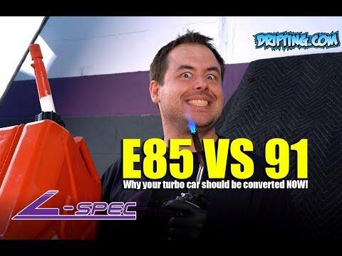 E85 vs Gasoline / 91 Octane / Race Gas / 93 Octane