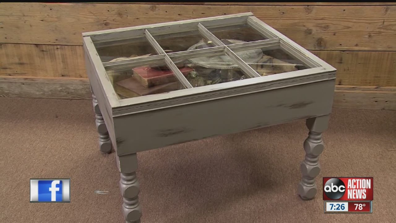 Diva Of Diy Leeann Lee Sees Right Through An Old Window And Spots A New Coffee Table