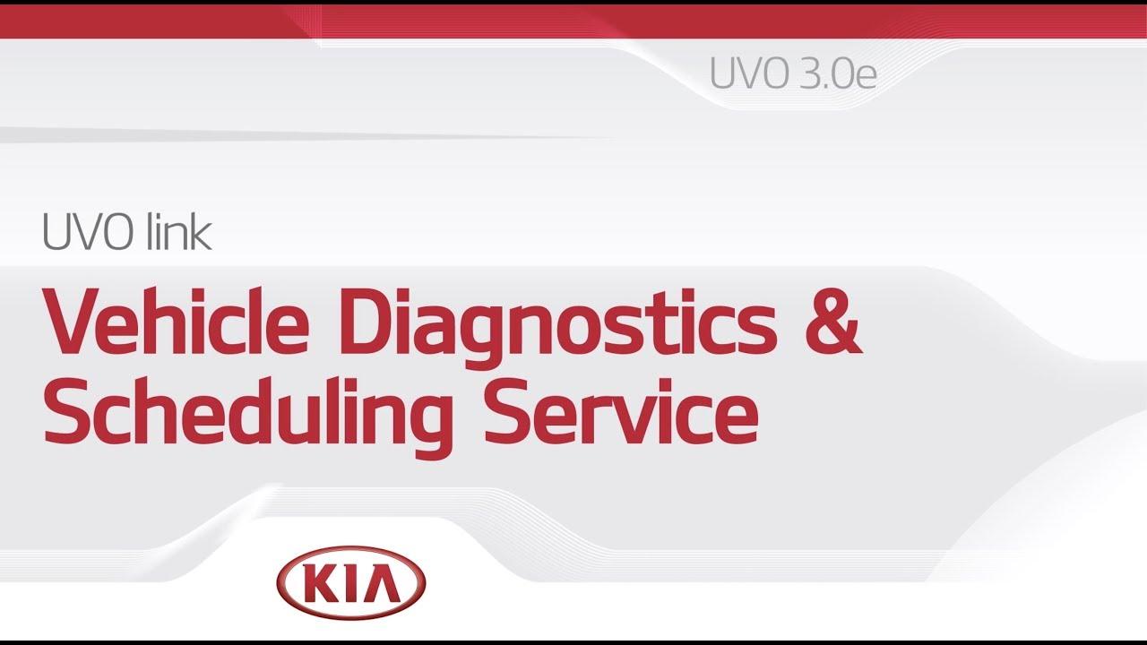 UVO Link: Vehicle Diagnostics & Scheduling Service
