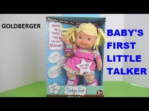 Baby S First Little Talker Goldberger Talking Doll Youtube