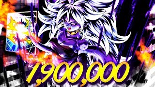 1.9 MILLION SUPER ART On NEUTRAL, Android 21 | Dragon Ball Legends