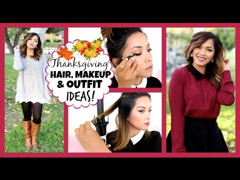 thanksgiving hair makeup outfit